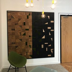 End grain oak wall panel