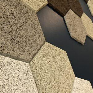 WOOLLYWALL - Wood Wool - Hexagons