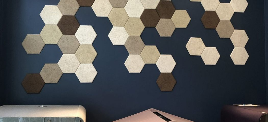 WOOLLYWALL - Wood Wool - Geometric - Hexagons
