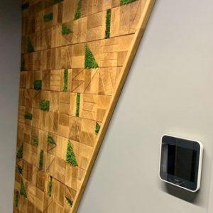 End grain oak wall panel