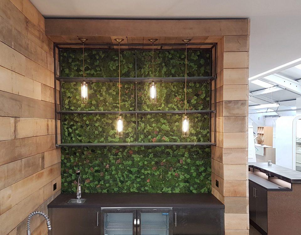 Biophilic moss wall